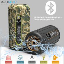Super Outdoor Bike Car Bluetooth Speaker 6600mAh Power Bank Waterproof Wireless Portable Subwoofer Speakers TF Card MP3 Player(China)