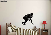 Mad World-Football Rugby Player Soccer Sport Wall Art Stickers Wall Decal Home DIY Decoration Removable Room Decor Wall Stickers