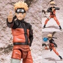 """5.8"""" Huong Anime Figure Naruto Shippuden Uzumaki Naruto Scale Face Moveble PVC Action Figure Collectible Model Toy Doll 15CM"""