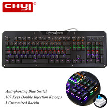 Mechanical Keyboard 104 Keys Gaming Keyboard with Colorful Customized Backlit Wrist Support for PC Computer Gamer
