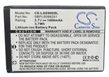 Cameron Sino 1000mAh Battery LGIP-520N, SBPL0099201 for LG BL40 Chocolate, GD900, GD900 Crystal(China)