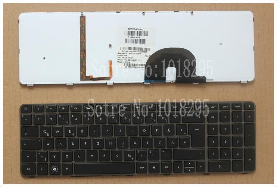 100% NEW For  HP Envy 17,17-2199EL, 17-2199EZ  17-1189EL, 17-1190CA  German GR laptop keyboard With backlight 610914-041<br>