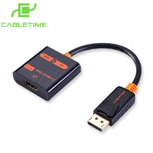 Cabletime display port to hdmi cable displayport to hdmi converter dp to hdmi active displayport for macbook PC Dell google 028