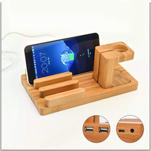 Charging Dock Cradle Phone Stand Holder For iPhone 7 6 Phone Holder Stand Stents Fashion Wooden Holder for iPad 2 3 4 mini