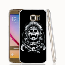 21044 Bikes Skull cell phone case cover for Samsung Galaxy S7 edge PLUS S6 S5 S4 S3 MINI
