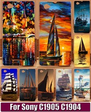 Smooth Sailing Ship Sightseeing Boat Pirate Ship Hood Phone Cases For Sony Xperia M C1905 C1904 C2004 C2005 Phone Case Shell(China)