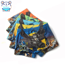 Cartoon Cotton Kids Boys Underwear Children's Pants Summer Baby Boxer Underpants Briefs for Boy Underware 2-8 Year 4 Pcs/lot(China)