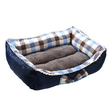 Pet Dog Bed Mattress Colorful Plaids Square Cushion Nest House  Pet Soft Warm Kennel Dog Mat Blanket