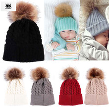 Newborn Winter Baby Girls Hat Cap Beanie, Kids Children Winter Knitted Wool Hats Caps for Girls recien nacido kids' winter hats(China)