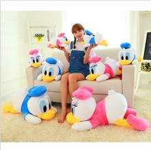New Arrival 20cm-35cm Staffed Animal Toys Dolls Soft Cute Lying Donald Duck Plush Toys Hold Pillow Gifts For Kids Girls Present