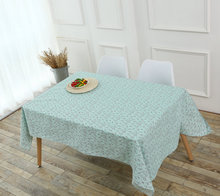 Pastoral Cotton and Linen Table Cloth Flower Fresh Country Style Multifunctional Rectangle Tablecloths Cover Decoration(China)