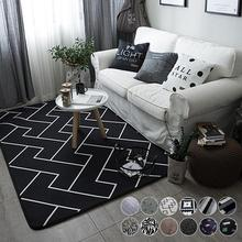 45 * 75 cm Bedroom Carpet Living Room Soft Mats Sofa Coffee Table Bedside Carpet Non Slip Rug Soft Yoga Mat Home decors 3