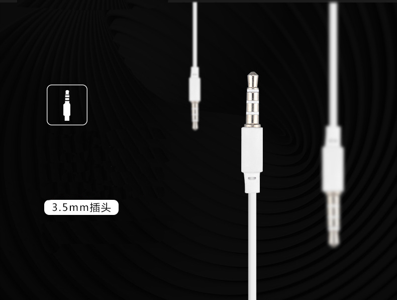 3.5mm Jack Stereo Bass Earphone For iPhone7 7plus Headst With Microphone Sport Headphone Headset For Samsung Xiaomi Sony