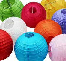 1pcs/Lot 8''(20cm) New Chinese Round Paper Lanterns Birthday Wedding Party decor gift craft DIY Party Decorations