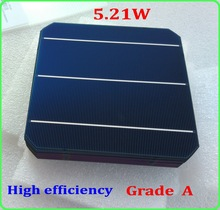 A grade 5.21W 156mm monocrystalline solar cell 6x6' 21.3% high efficiency DIY mono solar cell panel(China)