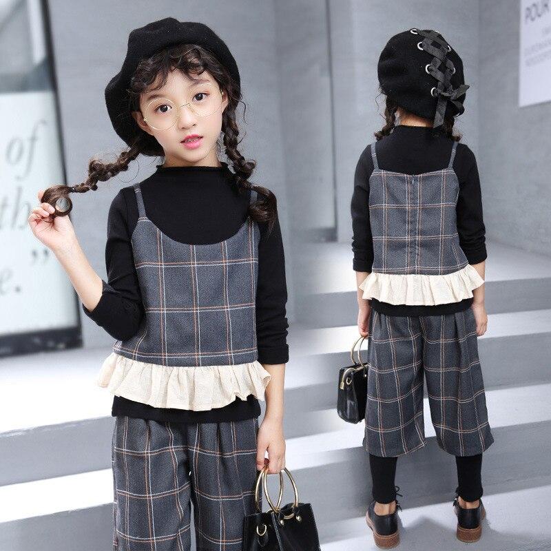 2017 Fashion Sport Suit Tracksuit for Girls Set Teenage Girl Clothing Sets Children Costume Kids Baby Winter Clothes Sets<br>