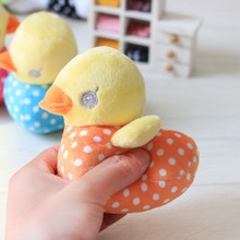 Free Shipping 2016 Cute Duck Pet Toys Stuffed Chew Squeaker Squeaky Dog Training Toys For Dogs Dot Small Dog Toy