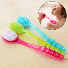 Bath Brush Skin Massage Health Care Shower Reach Feet Back Rubbing Brush With Long Handle Massage Accessories  E2S