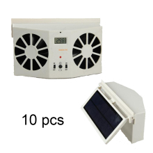 10 PCS 2W Solar Sun Power Car Auto Air Vent Cool Fan Ventilation System Radiator with Display Portable Cooler