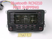 Russia Free Shipping Original Car Radio RCN210 CD MP3 USB SD AUX Bluetooth Player for VW Golf 5 6 Jetta Mk5 6 Passat CC Tiguan