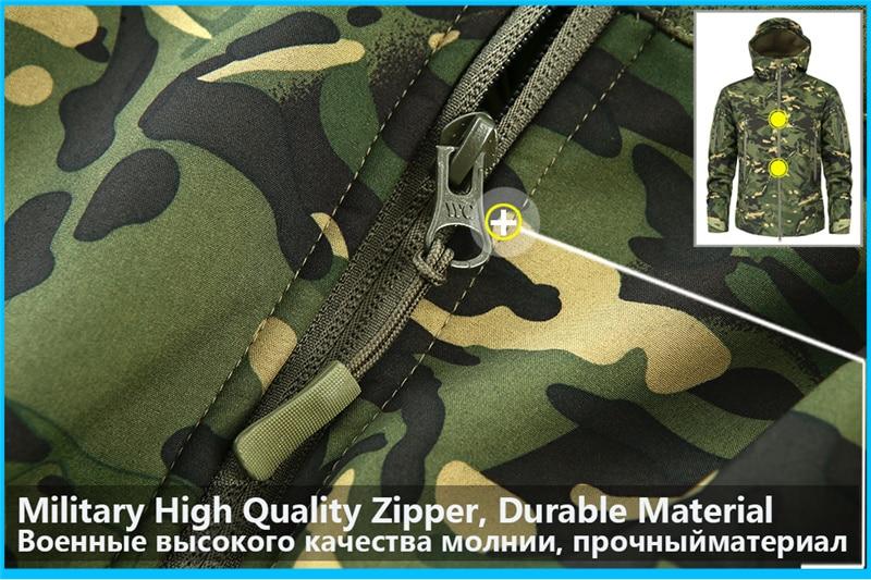 Mege Shark Skin Soft Shell Military Tactical Jacket Men Waterproof Army Fleece Clothing Multicam Camouflage Windbreakers 4XL 10