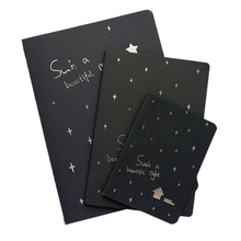 1 Notebook Diary Black Paper Notepad 16k 32k 56k Sketch Graffiti Notebook For Drawing Painting Office School Stationery Gifts(China)