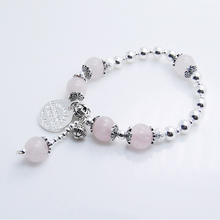 Powder Crystal 925 Sterling Silver Bangle Bracelet For Women In 6 mm Ball Factory Price of Gifts