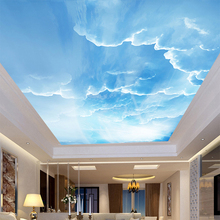 3D Wall Mural Sky White Clouds Custom 3D Photo Wallpaper Natural Scenery For Walls Ceiling Mural Wall Wall Paper Home Decoration