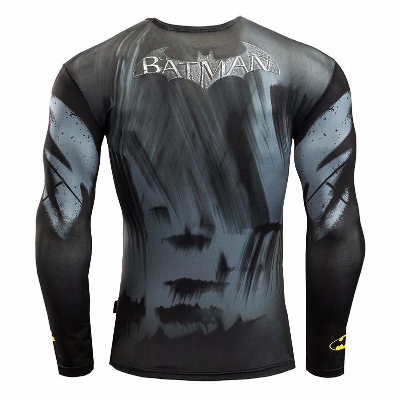 Marvel Gyms Clothing Fitness Compression Shirt Men Batman t-shirt men Long Sleeve 3D t shirt men Crossfit Tops tee shirt homme 10