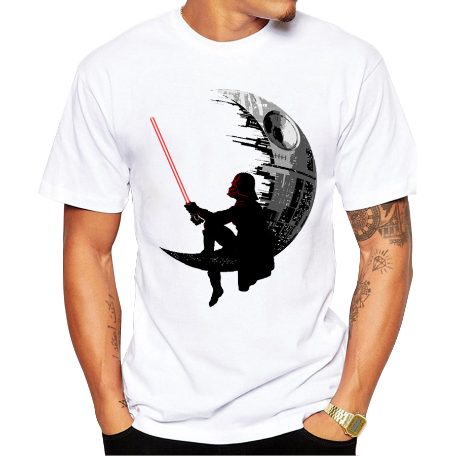 2016 New Fashion Darthworks Design Men T Shirt Short Sleeve Hipster Star  Wars Tops The