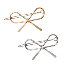 M MISM New Vintage Hairpins Metal Bow Knot Hair Barrettes Girls Women Hair Accessories Hairgrips New Brand Hair Holder Hair Clip(China)