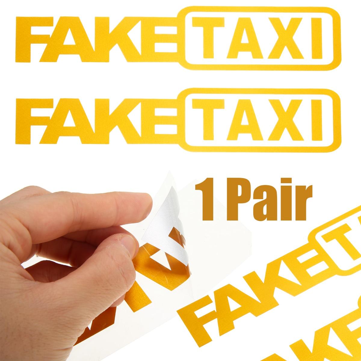 Universal 2Pcs FAKE TAXI Car Sticker Decal Emblem Self Adhesive Vinyl Stickers For Car Truck