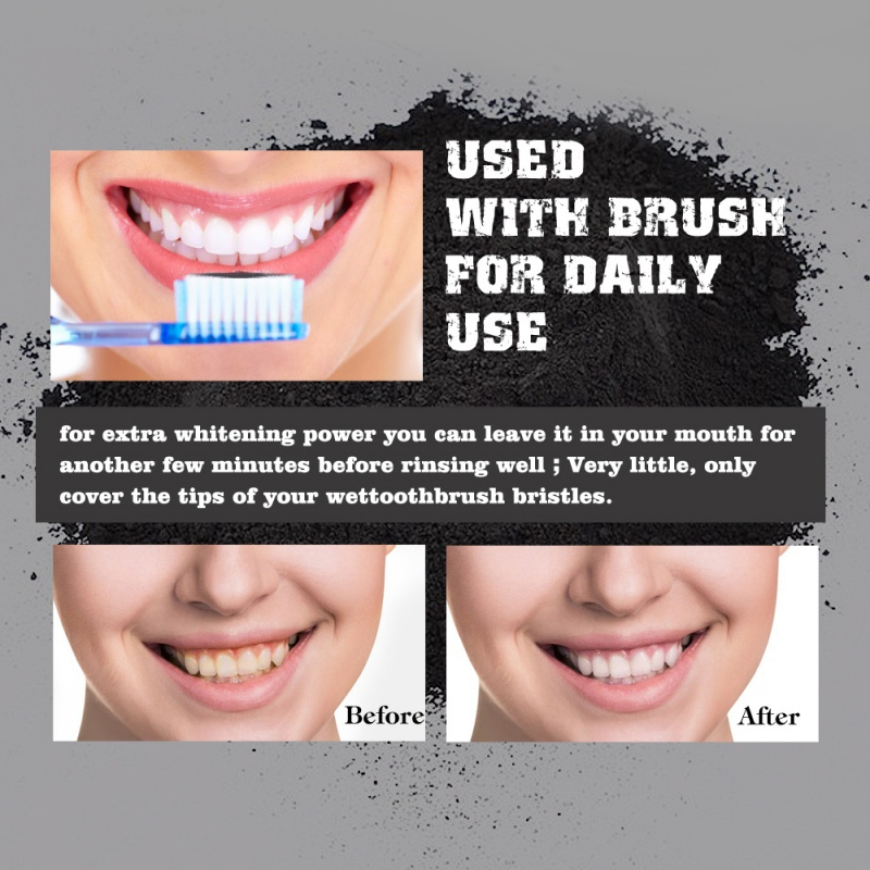 Bamboo Organic Charcoal Whitening teeth whitening washing powder white teeth tooth element remove tooth stain