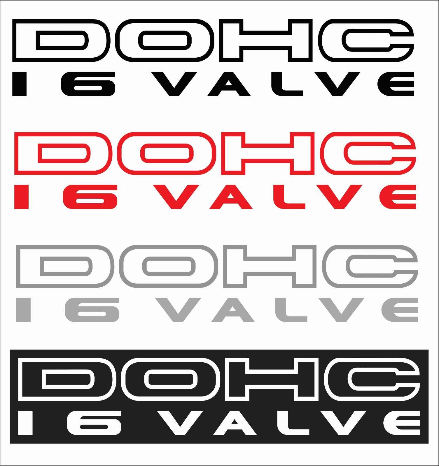 For 2pcs dohc 16 valve vinyl sticker decals set of 2