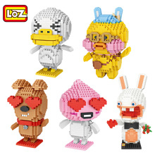 LOZ Diamond Block Duck Dog Building Blocks Rabbit Peach Brick Figure Assemblage LOZ Blocks Set Toys 9773 9774