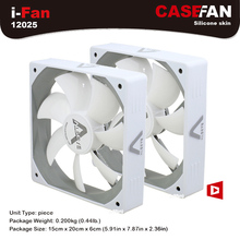 ALSEYE 120mm Cooler Fan (2 pieces/lot) DC 12V White Silent Fan 1500RPM 64CFM High Air Flow 3pin Cooling Fan for Computer(China)