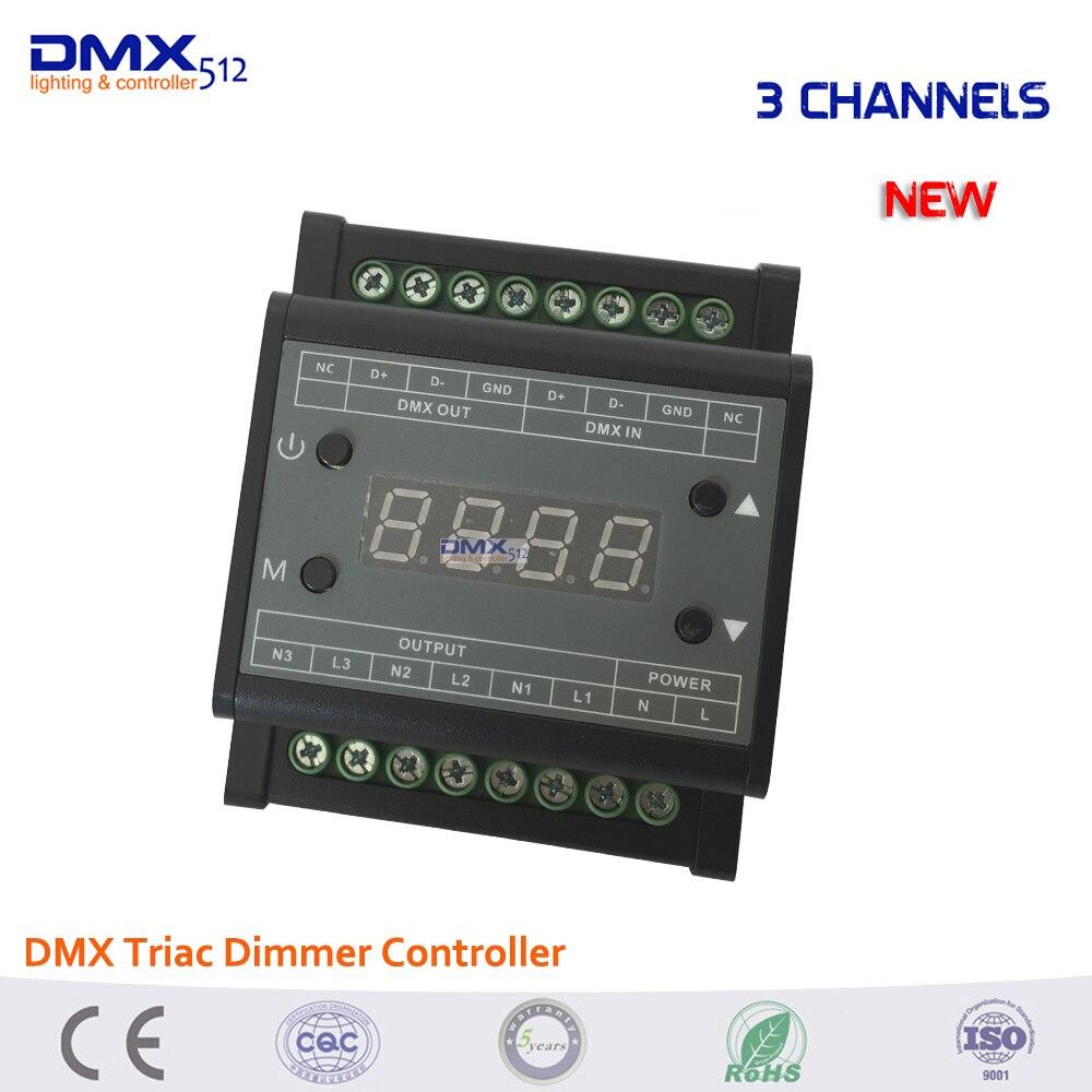 Dmx Triac Dimmer Controller Led Brightness 3 Channels 3*110w/110V, 3*220w/220V Output high voltage 3CH 1A/CH for led panel light<br>