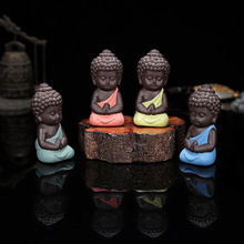 Pet boutique tea Buddha monk Yixing auto accessories mascot birthday gift Home Furnishing ornaments ornaments fleshy flower