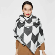 2017 Women New Fashion Black and Whiter Color Big Shawl Grid Houndstooth Swallow gird Scarf 140cm*140cm