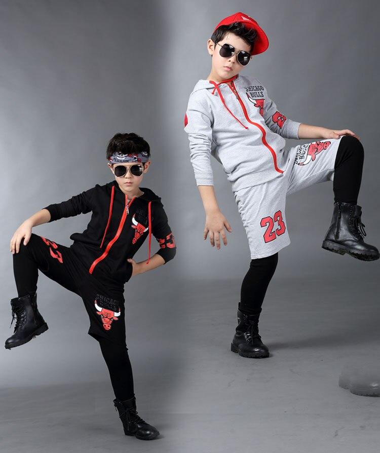 Spring childrens clothing set streetwear Costumes No. 23 printing Long sleeve kids sport suits Hip Hop dance pant &amp; sweatshirt<br><br>Aliexpress
