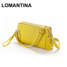 Best Genuine Women Leather Handbags Girls Fashion Casual Plaid Female Brand Shoulder Messenger Bag
