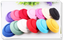 "Free shipping5.2""(13cm) 13 color  mini top fascinator hats/ party hats/glitter hats,DIY hair accessories 24pieces/lot"