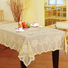 150*230cm Elegant Polyester Jacquard Lace Tablecloth For Wedding handcraft Table Cloth Cover Decoration toalha de mesa LS002(China)