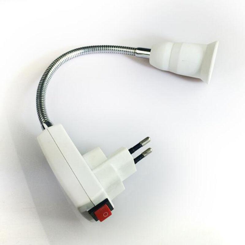 0623 E27 Light Lamp Bulb Holder Flexible Extension Converter Switch Adapter Socket 4