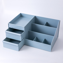 Drawer type cosmetic storage box table top bathroom home simple desk shelf holder case office desktop stationery supplies(China)