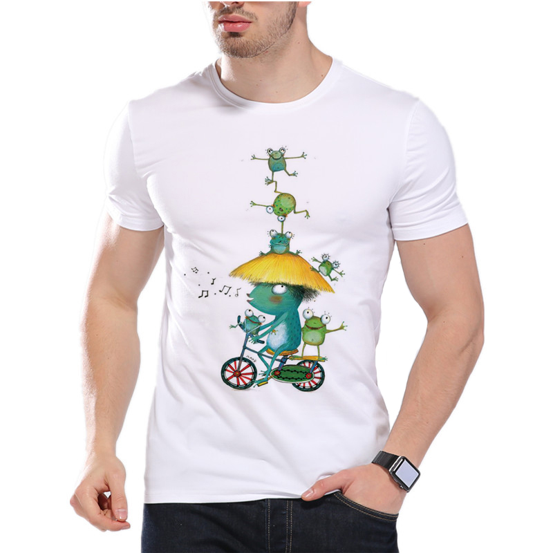 New Frog Acrobatic Troupe 2018 men's creative funny crazy frog printed t-shirt funny animal tee shirts Hipster cool tops D8-2#