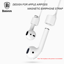 Baseus Earphone Strap Magnetic Adsorption Wire Anti Lost Loop String Rope for AirPods Apple 7 / 7 Plus Silicone Cable Cord(China)