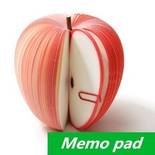 20 pcs/Lot Memo pad Apple fruit design notes notepad kawaii korean Novelty stationery office supplies School supplies 6413