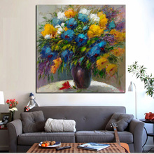 HD Print Abstract Floral in Vase Oil Painting on Canvas Morden Poster Wall Art Picture for Sofa Living Room Cuadros Decoracion
