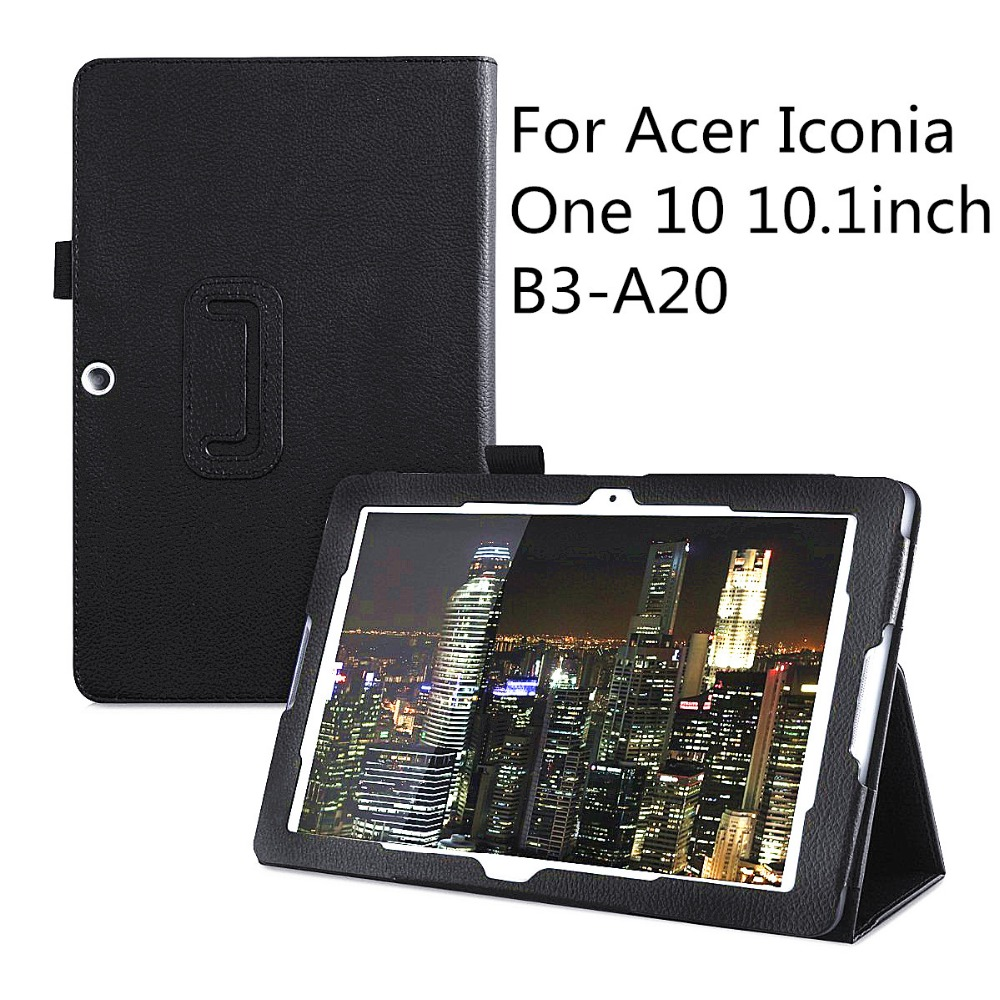 30Pcs/lot PU Leather Folio 2-folding Stand Cover with Stylus Holder for 10.1 Acer Iconia One 10 B3-A20 Android Tablet<br><br>Aliexpress